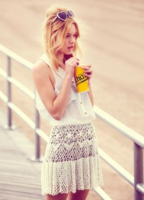 crochet skirt free people Celebrity and Designer Crochet: June Roundup
