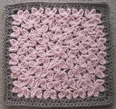 crochet treble square 400x376 Popular Crochet Pattern: In Treble Afghan Square