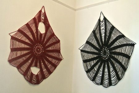 crochet wall art Welcome to My Crochet Covered Home (Photo Tour)