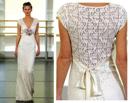 Crochet Pattern Wedding Dress : 12 Crochet Wedding Dresses for Those Summer Weddings