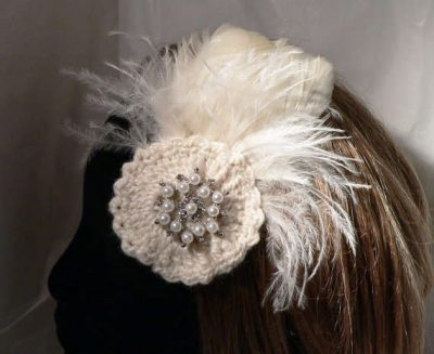 crochet wedding fascinator 400x327 Then and Now in Crochet (10/7   10/13)