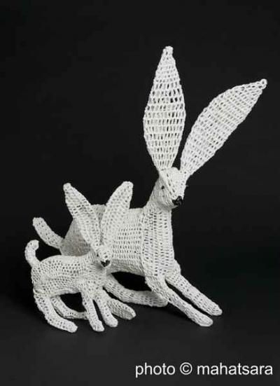 crochetdermy 400x551 Plastics Crochet Artist Magda Van der Vloed