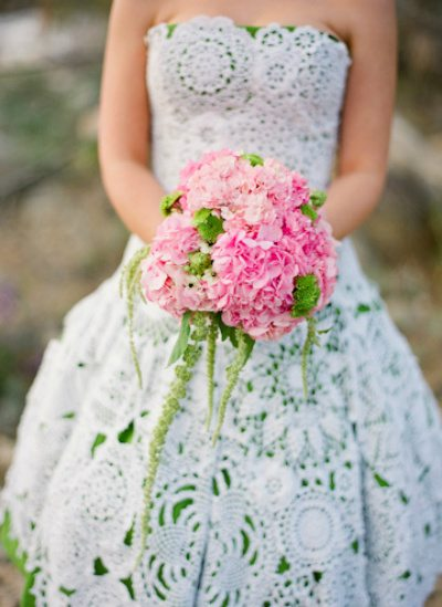 doily wedding dress 12 Crochet Wedding Dresses for Those Summer Weddings