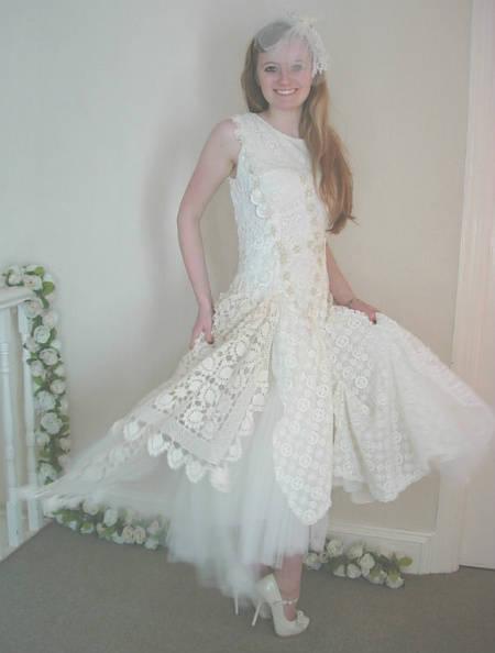 Wedding Dress Paterns 48 Beautiful filet crochet wedding dress