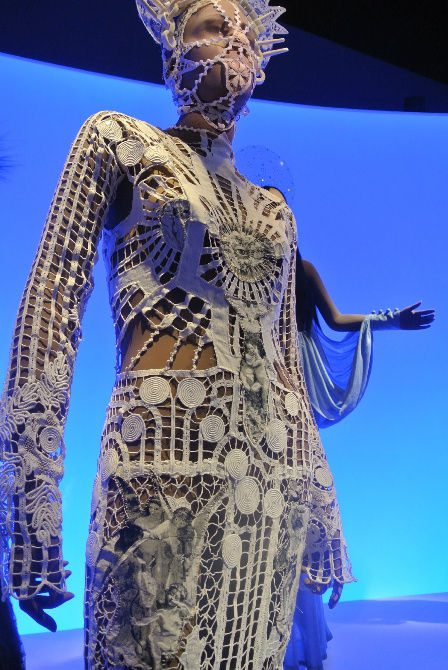 gaultier crochet gown Crochet at Gaultier Exhibit