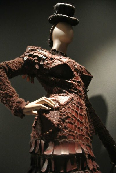 gaultier crocodile crochet Crochet at Gaultier Exhibit