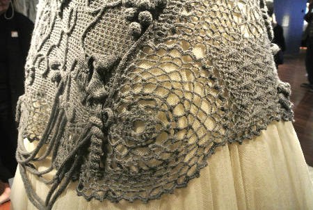 gaultier dress detail Crochet at Gaultier Exhibit