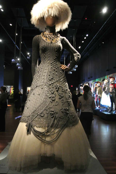 gaultier knit dress Crochet at Gaultier Exhibit