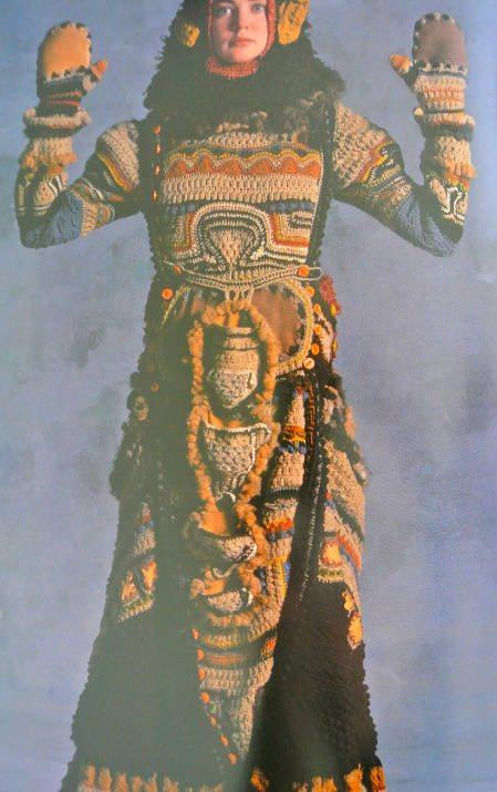 janet lipkin decker crochet coat Edgy 1970s Crochet Art: Janet Lipkin Decker