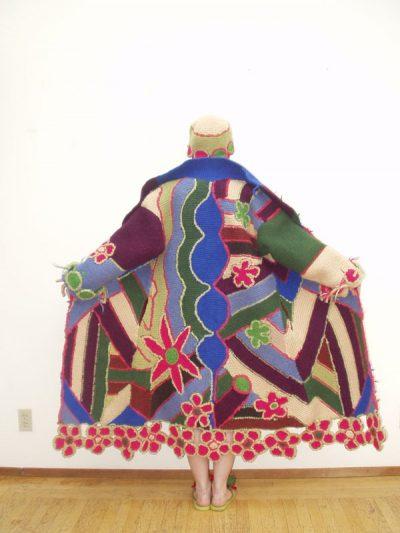 janet lipkin flower crochet coat 400x533 Edgy 1970s Crochet Art: Janet Lipkin Decker
