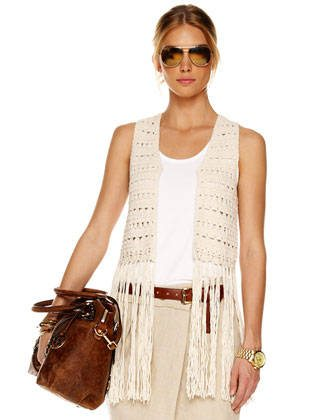 michael kors crochet fringe vest Michael Kors Started Fashion Career as a Crocheter
