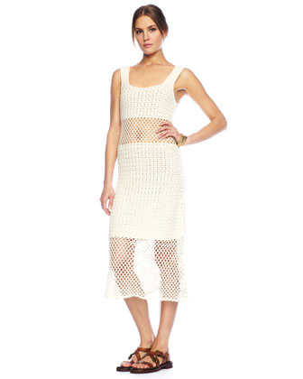 michael kors crochet tank dress