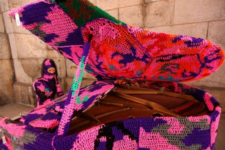 olek crochet piano 25 Crochet Artists to Learn More About