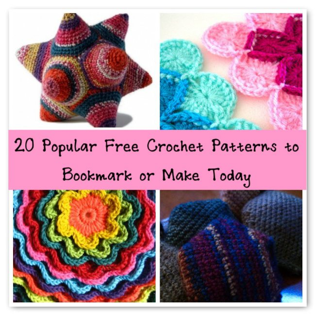 popular free crochet patterns