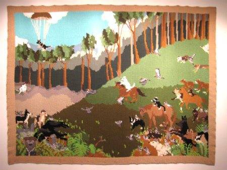tapestry crochet landscape Portrait Crochet Art from Pat Ahern