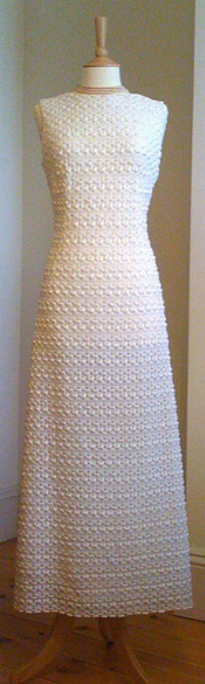 vintage crochet wedding dress 12 Crochet Wedding Dresses for Those Summer Weddings