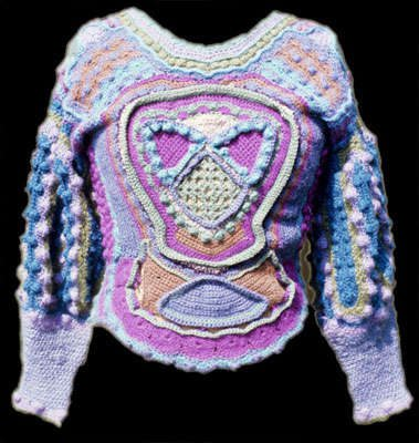 1970s crochet sweater