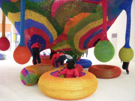 JangHeung Art Park Visual Chronology of Crochet Playgrounds by Toshiko Horiuchi Macadam