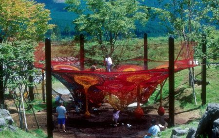Mt Fuji Children's World crochet playground Visual Chronology of Crochet Playgrounds by Toshiko Horiuchi Macadam