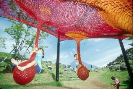 Mt Fuji Children's World Visual Chronology of Crochet Playgrounds by Toshiko Horiuchi Macadam