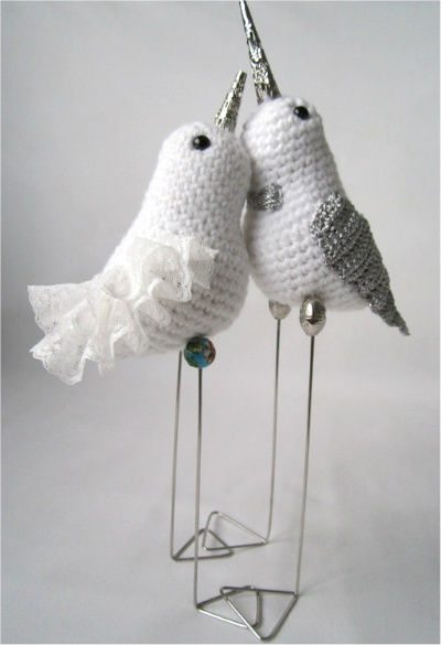 amigurumi love birds The 12 Best Crochet Cake Toppers for Your DIY Wedding Cake