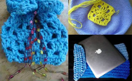 blue crochet bags My Year of Projects: Last Year/ This Year