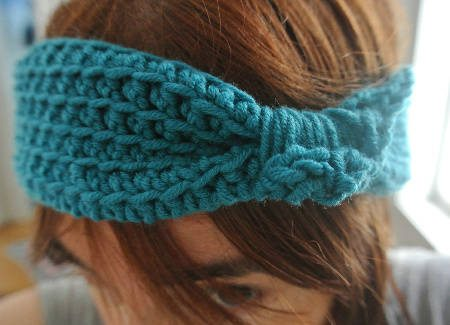 blue crochet headband My Makes: Crochet Headbands