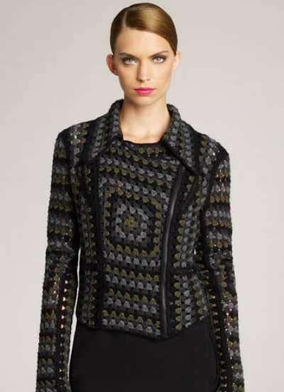 christopher kane crochet biker jacket Then and Now in Crochet (11/11   11/17)