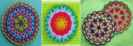 colorful crochet mandalas