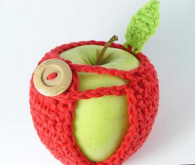 crochet apple cozy 400x339 10 Most Popular Crochet Patterns To Buy Online (+16 More People Love)