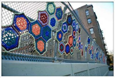 crochet art crystal gregory 400x271 Awesome New York Crochet Art That Isnt From Olek