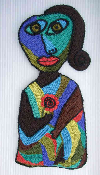 crochet art Astonishing Freeform Crochet Art Inspired by Music and Art