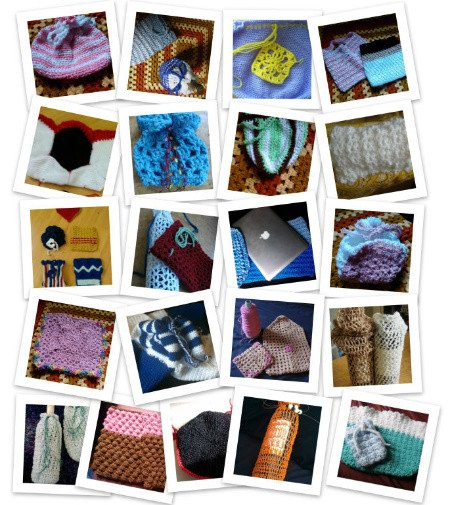crochet bags collage