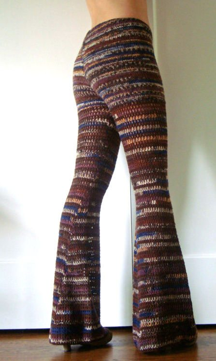 crochet bell bottom pants1 Crochet Pants Really Can Look Cute. These 20+ Examples Prove It!