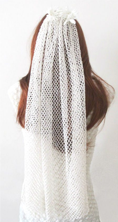 crochet bridal veil 12 Crochet Wedding Veils That Will Make Everyone Want to Kiss the Bride