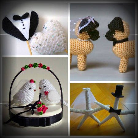 crochet cake toppers1 Roundup of Wedding Crochet Posts for DIY Summer Brides