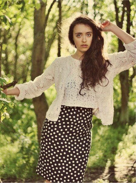 crochet cardigan Designer Crochet: Karl Lagerfeld