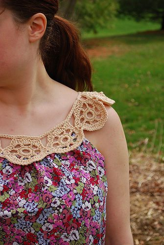 crochet fabric top 20 Inspiring Ideas for Combining Crochet with Fabric