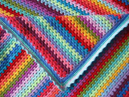 crochet granny stripes pattern
