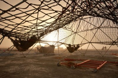crochet hammock dome 400x266 Crochet Playground for Burning Man 2014