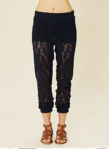 crochet harem pants free people Crochet Pants Really Can Look Cute. These 20+ Examples Prove It!