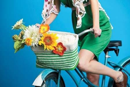 crochet hemp bike basket 20 Delightful Hemp Crochet Designs to Inspire Your Organic Side