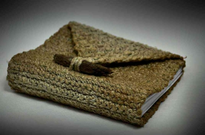 crochet hemp book cover 400x265 20 Delightful Hemp Crochet Designs to Inspire Your Organic Side