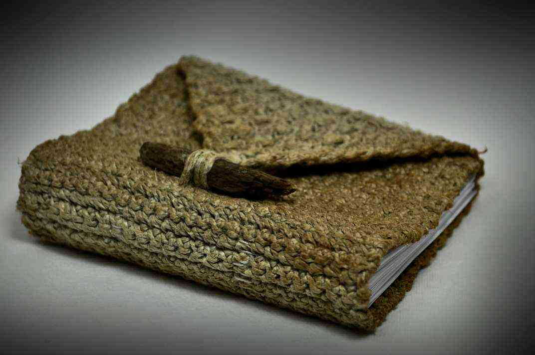 Book Cover Crochet ~ Delightful hemp crochet designs to inspire your organic