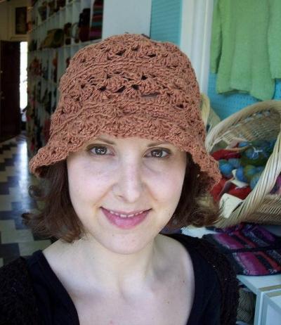 crochet hemp hat