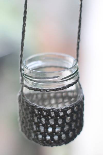 crochet hemp jar 20 Delightful Hemp Crochet Designs to Inspire Your Organic Side