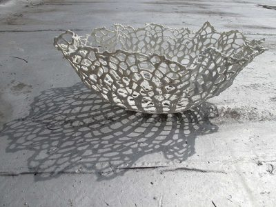 crochet lace bowl 400x300 Awesome New York Crochet Art That Isnt From Olek