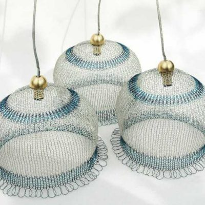 crochet metal lamps 400x400 Crochet Wire Sculptor Ruth Asawa