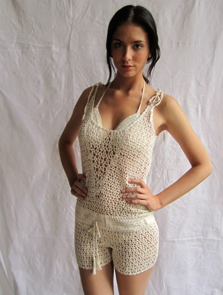 crochet romper 5 Unique Crochet Items from Swimwear Designer Anna Kosturova