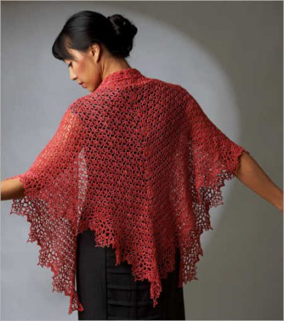 crochet shawl pattern1 400x452 100 Unique Crochet Shawls